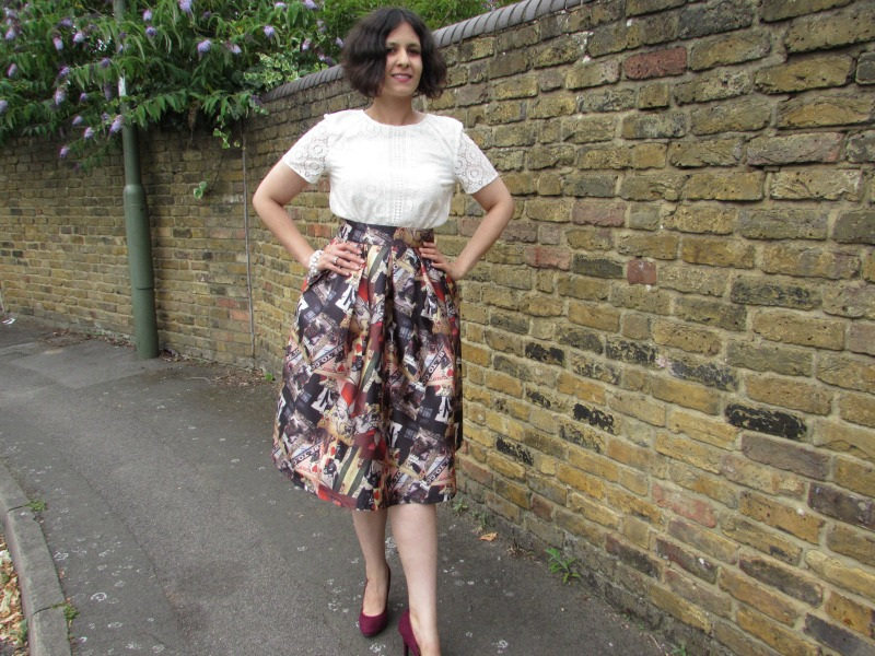 Full midi printed skirt from Everything5pounds.com