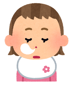 赤ちゃんの表情のイラスト(女・居眠り)