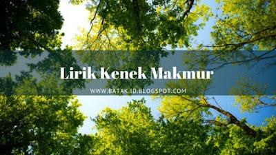 Lirik Kenek Makmur