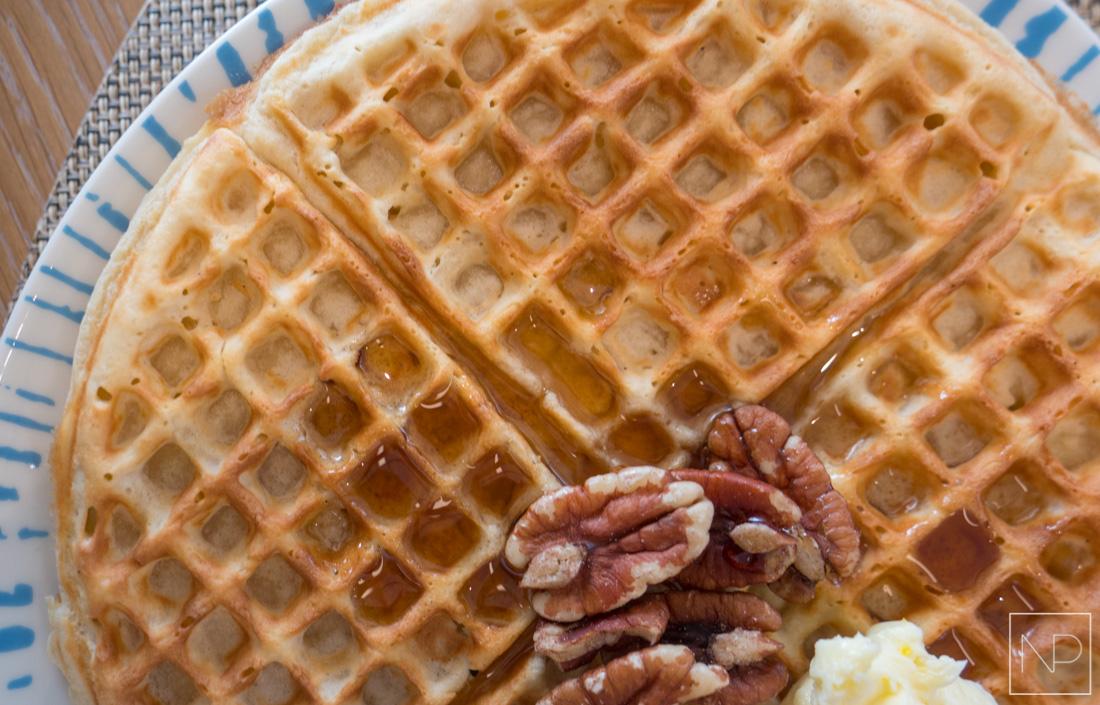 Freshly made Waffle, Breakfast selection on Viking Cruises