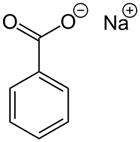 Strukturformel Natriumbenzoat
