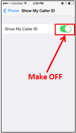 iPhone Blocked Caller ID