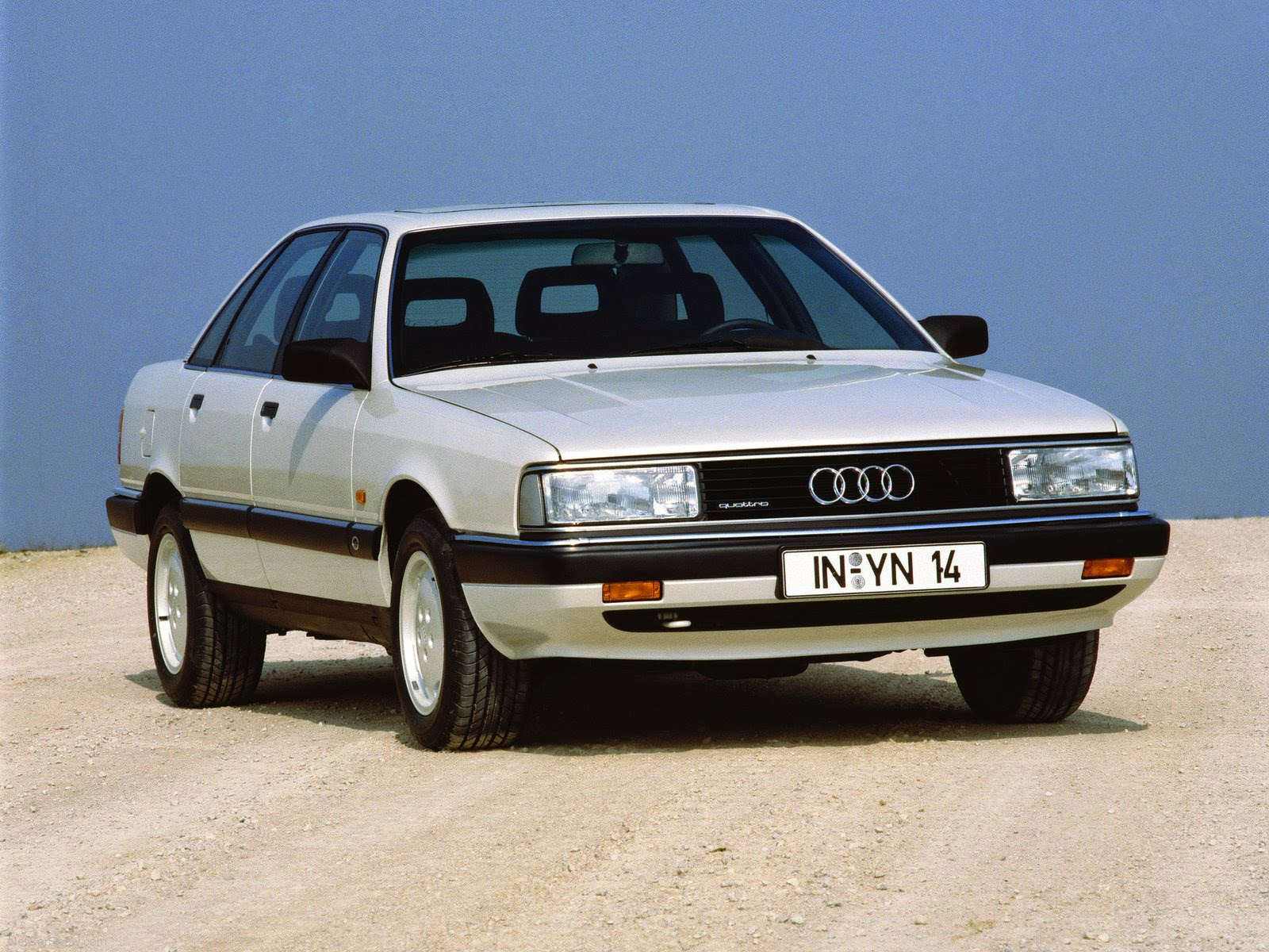 1989 Audi 200 front view