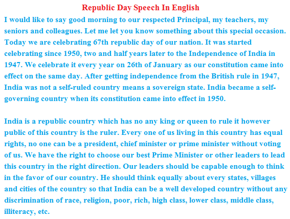 term papers republic day speech in english Online writing resource with over 85,000 term papers and essays to choose from last 10 papers submitted.