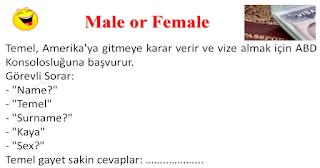 Male or Female - Temel Fıkraları - Komikler Burada