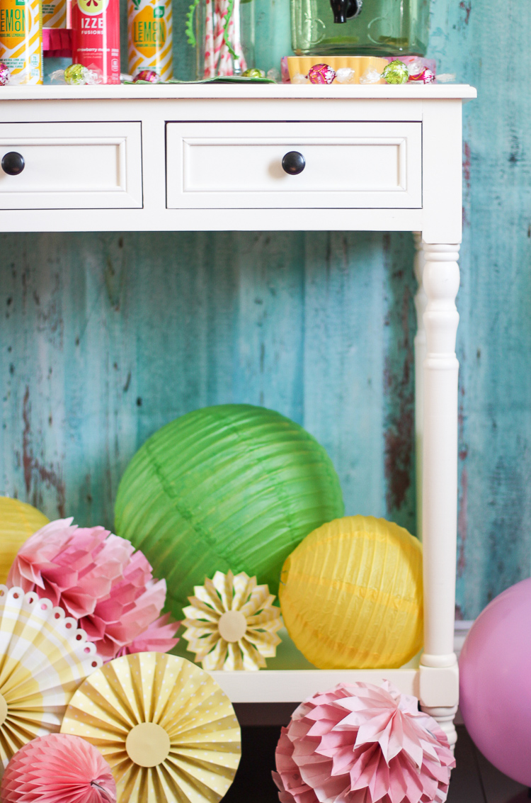 How to style a bar cart for a party