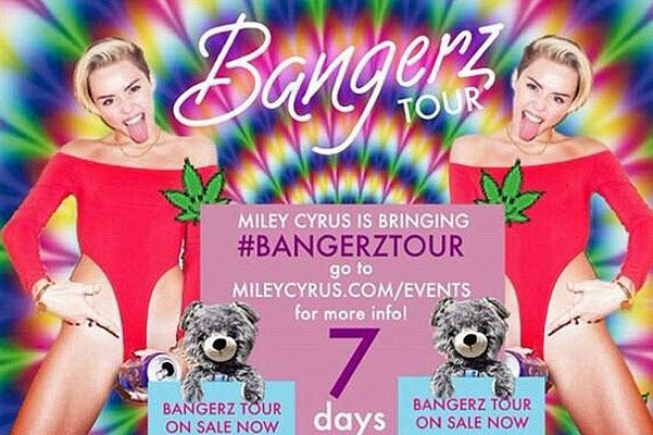 Miley Cyrus tour poster
