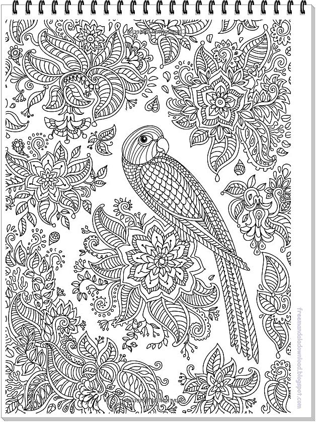 Papagei Mandala Ausmalbilder Zum on Dot To Dots