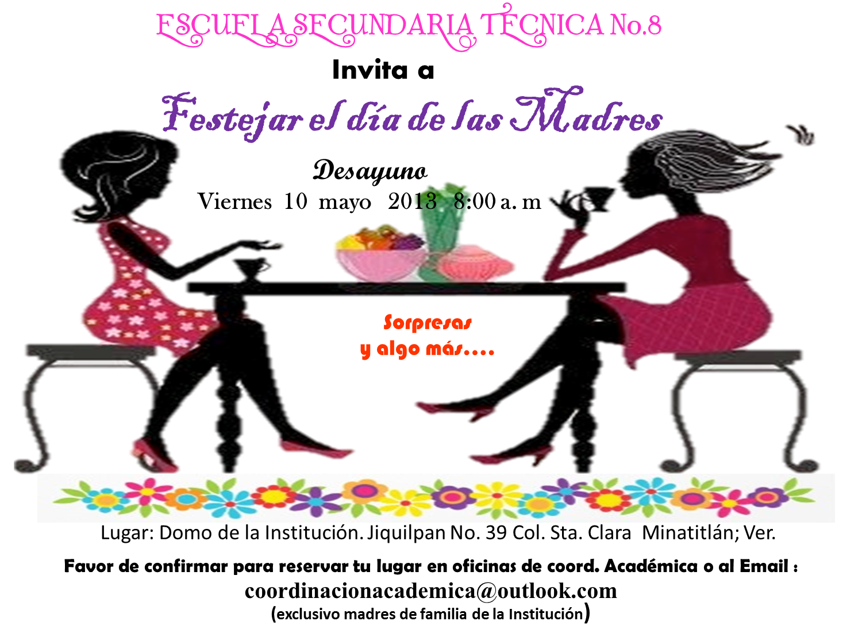 Invitacion DÍa De Las Madres RegiÓn: Escuela Secundaria Técnica Industrial No. 8: Abril 2013