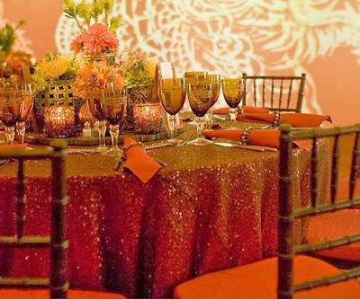 fall wedding decor tables