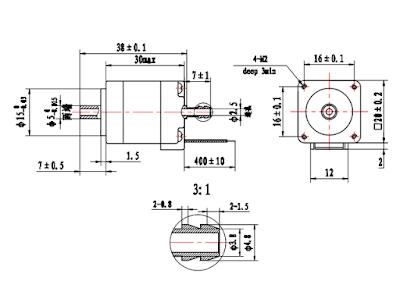 hollow shaft stepper motor