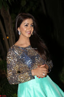Nikki Galrani in Green Skirt  Top at Marakathamani music launch ~  Exclusive (76).JPG