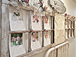 diy old window turned calendar