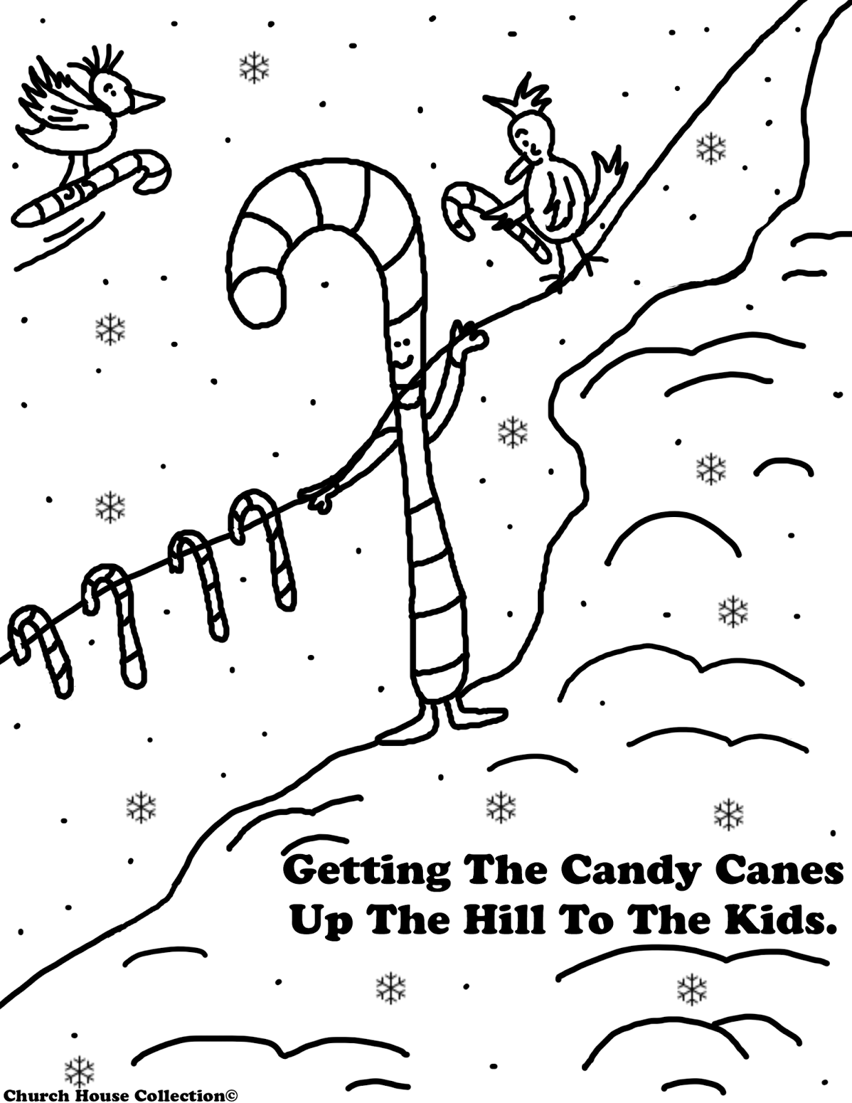 christmas coloring pages for childrens church | Church House Collection Blog: Free Christmas Candy Cane ...