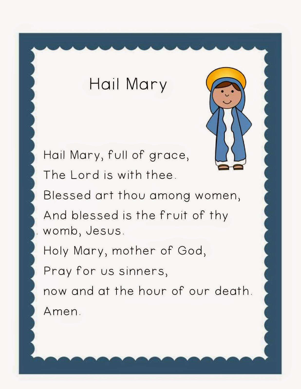 Growinginpre K And K New Catholic Printables