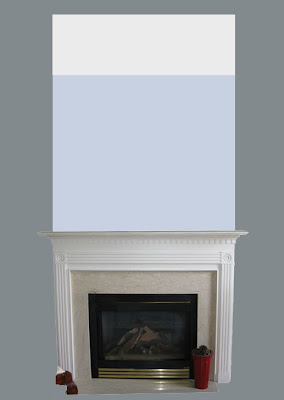 Adding moldings and MDF to a regular fireplace to make it the focal point in the room.