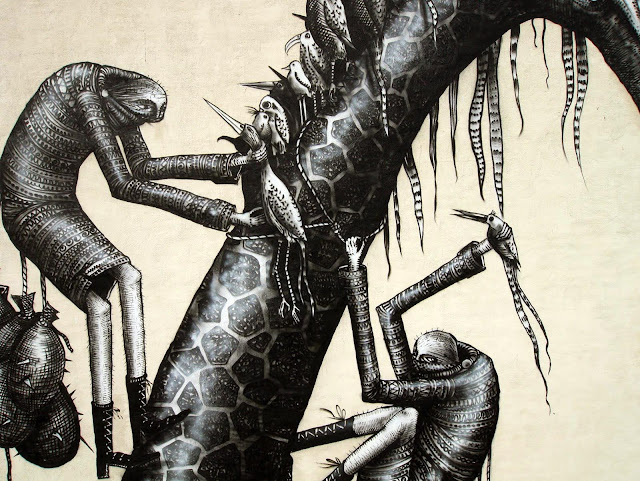 Street Art By Phlegm In Bushwick, Brooklyn. 3