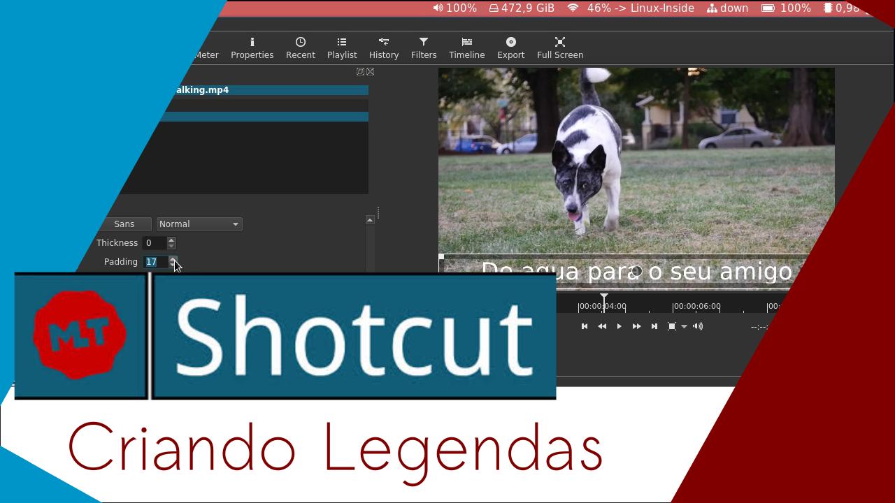 Imagem de capa para o post: Criando legendas com o Shotcut