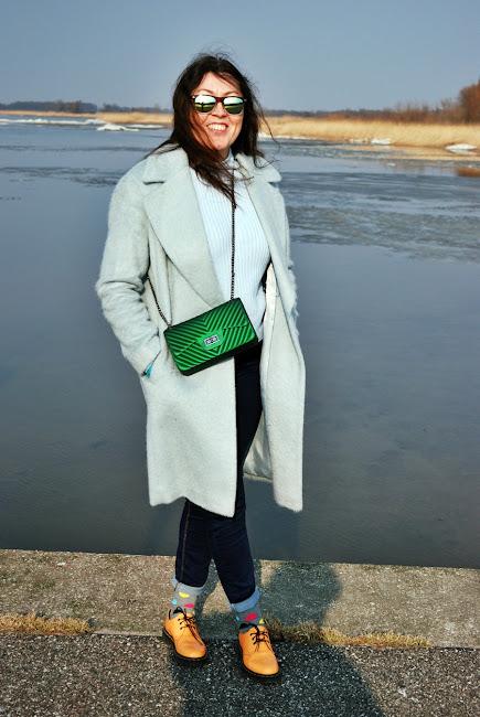 Oversize coat Marks & Spencer and Dr Martens