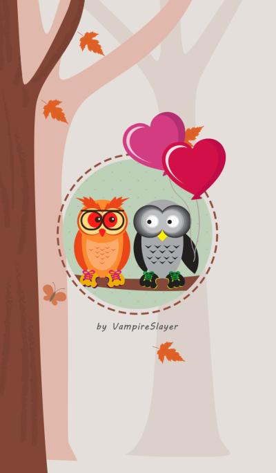 Owl puppy love