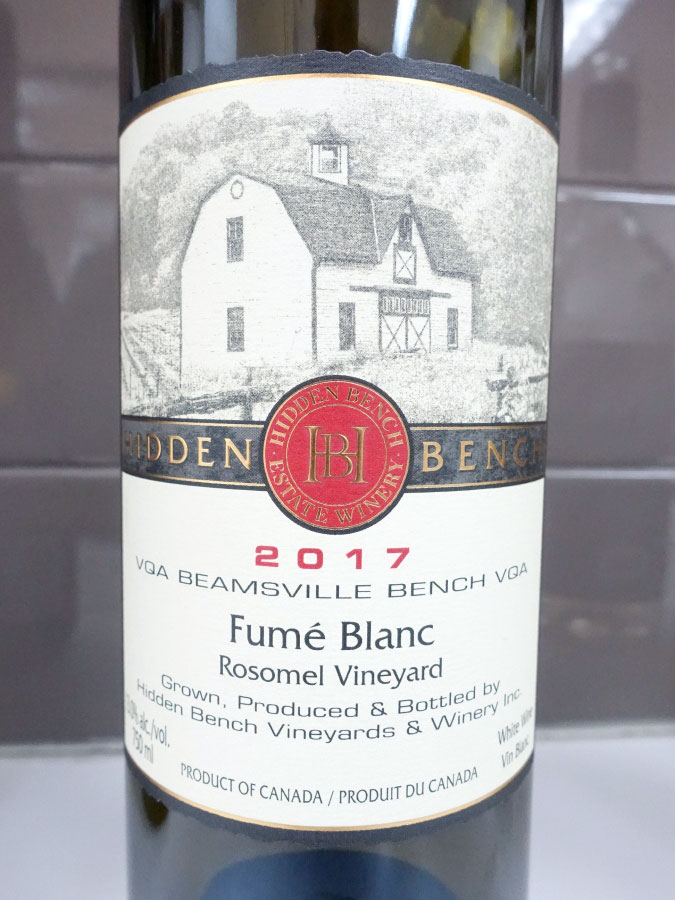 Hidden Bench Fumé Blanc 2017 (92 pts)