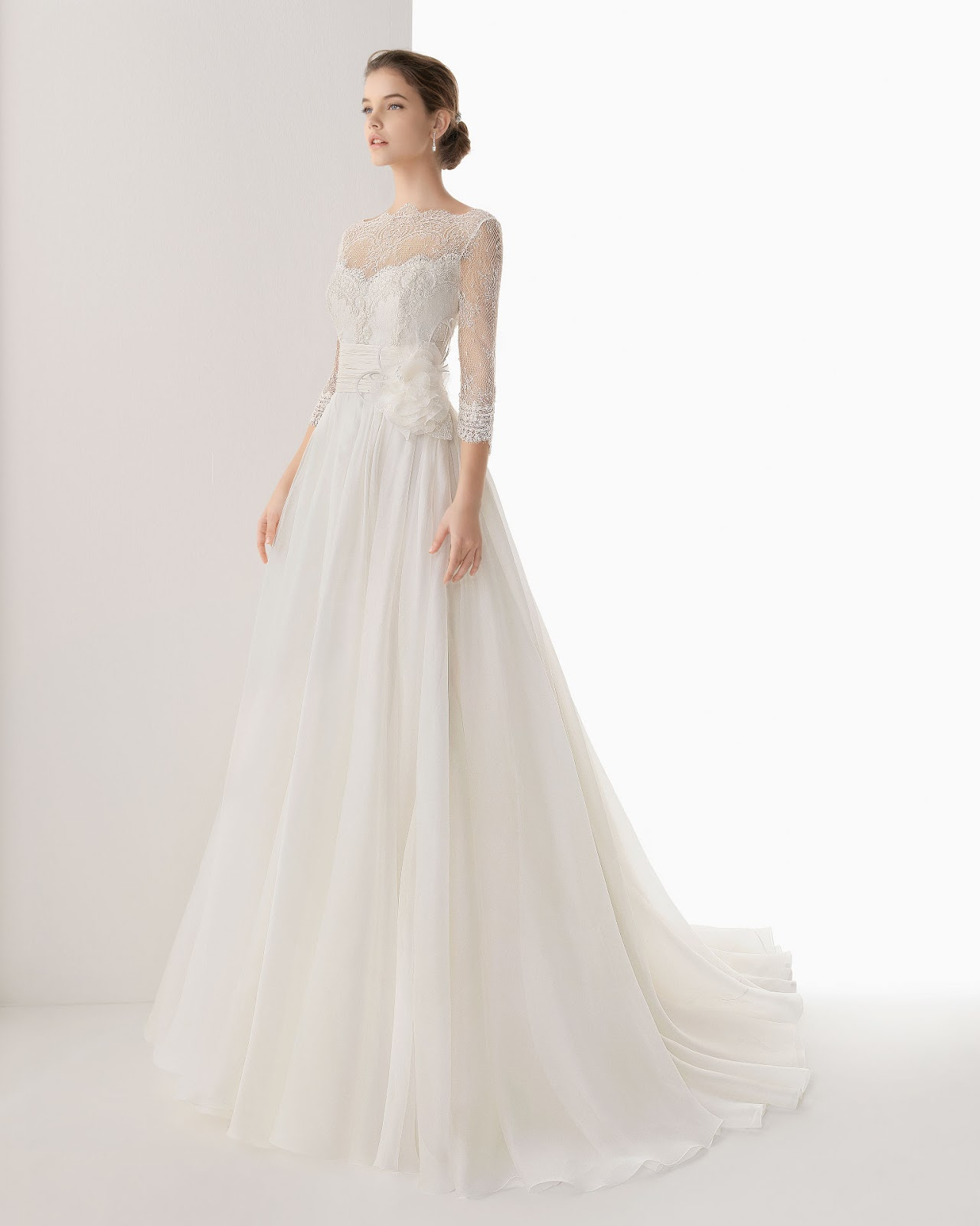 Dressybridal wedding dresses with lace long sleeves and for Long dress to a wedding