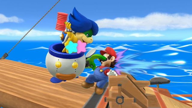 Ludwig Von Koopa Koopalings Bowser Jr. pummel attack animation