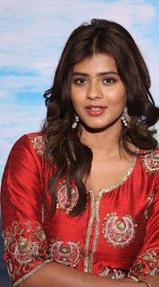 Actress Heba Patel Latest Stills in Red Dress at Mister Movie Trailer Launch Event  0004.jpg