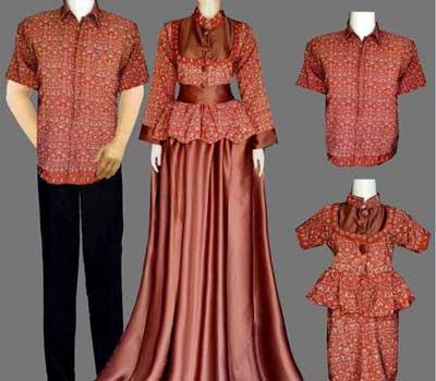 Model batik sarimbit keluarga untuk pesta