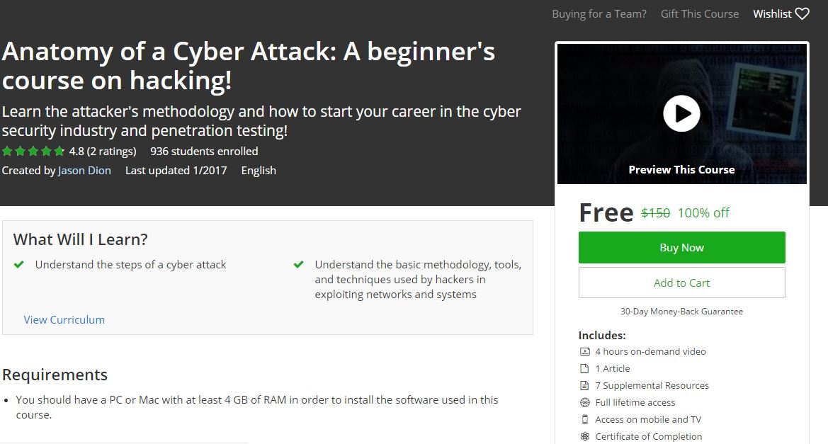 Udemy 100% Off] Anatomy of a Cyber Attack: A beginner\'s course on ...