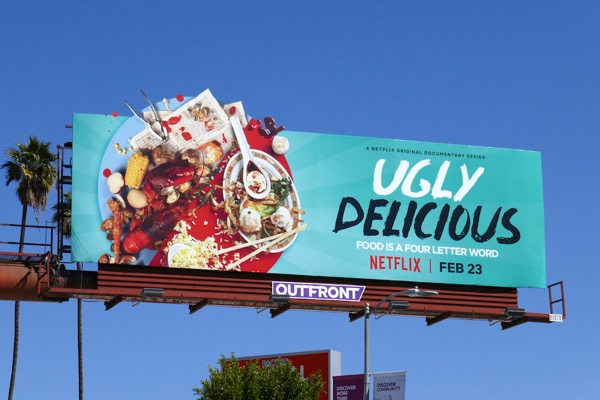 Ugly Delicious series premiere billboard