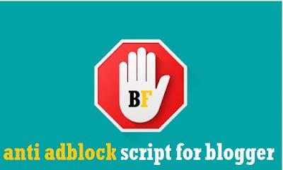 Anti Adblock Script for blogger