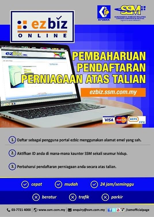renew pendaftaran perniagaan online
