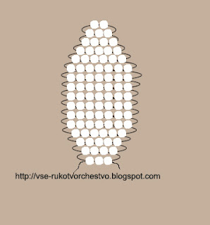 Схема плетения ромашки из бисера параллельным плетением