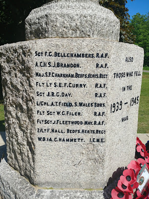 Photograph of The names of  'those who fell' in the 1939 - 1945 war Image by the North Mymms History Project released under Creative Commons