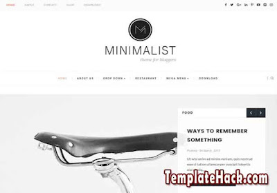 minimalist clean blogger template