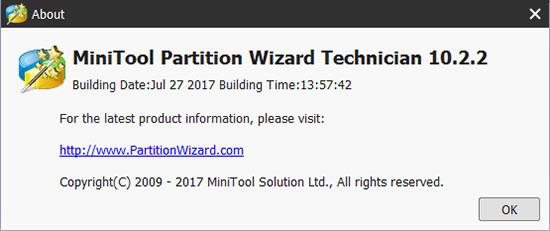 MiniTool Partition Wizard Technician 10.2.2 Full Version