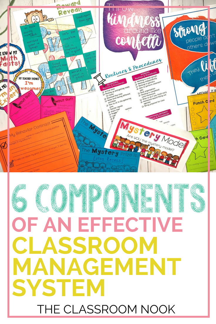 Does your classroom management system include all 6 of these essential components? Read this post to learn how to make sure you've got an effective classroom management system in your upper elementary classroom #classroommanagement #backtoschool #classroomcommunity