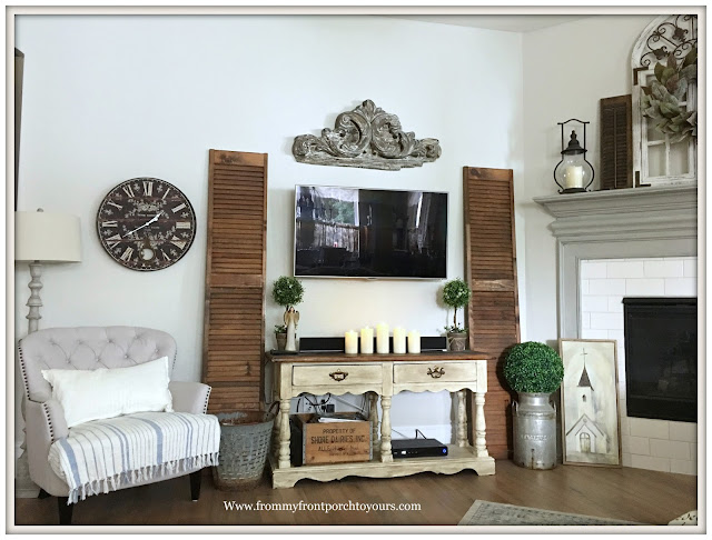 French Country- Living Room-French Farmhouse-Farmhouse TV Sideboard-From My Front Porch To Yours