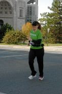 Sandy running by Ohio Stadium during the 2006 Columbus Marathon