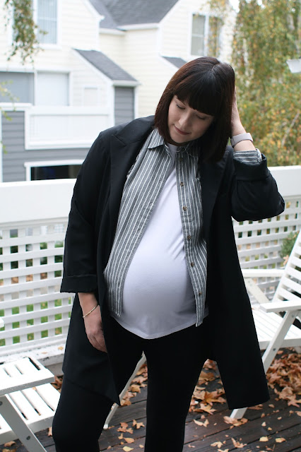Madewell, Topshop, Seraphine maternity, 36 weeks pregnant, OOTD, Fashion Blogger