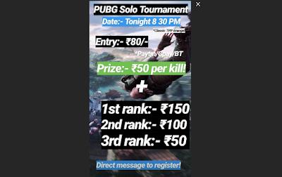 paid tournaments pubg mobile