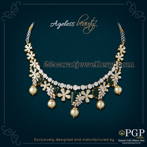Diamond Emerald Floral Set by PGP Jewels