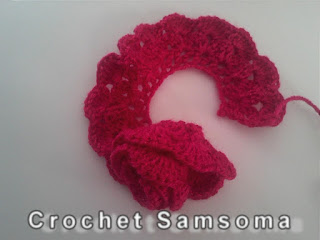 طريقة عمل الوردة الملفوفة بالكروشيه بالخطوات المصورة . طريقة عمل ورده كروشيه ملفوفه.  .كروشيه وردة .كروشيه وردة 4 Crochet Flower