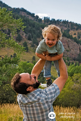 photograph of a father and son in boulder colorado