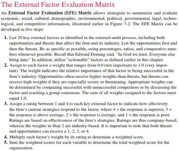 """kraft foods external factors evaluation matrix Swot analysis is: """"the evaluation of the internal factors (strengths & weaknesses) and external factors (opportunities & threats) that are favorable or unfavorable to a firm in the pursuit of a specific objective."""