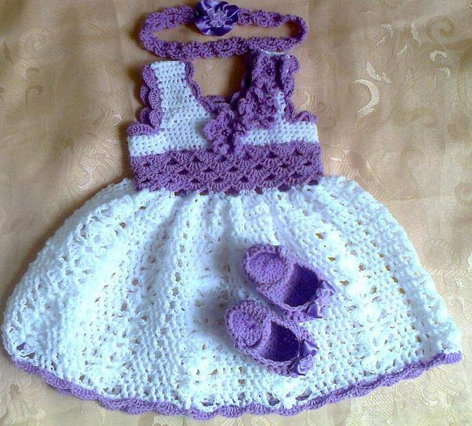 Crochet Baby Dress Set Pattern Free
