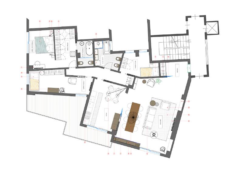 progetto interior design Ingegnere Giulia Fornaciari GoPIllar