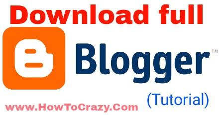 Download full blog's posts.