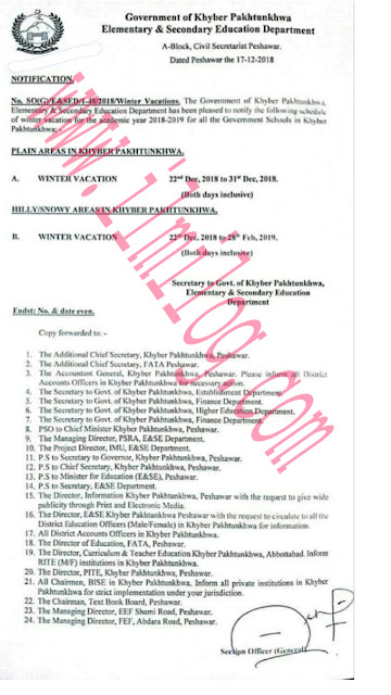 Notification KPK Public Holidays 2018